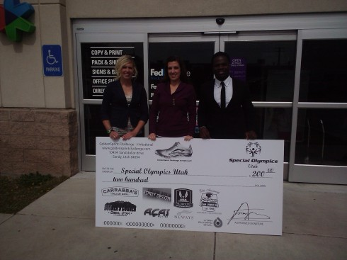 2012 GoldenSprint Challenge Invitational Donates to Special Olympics Utah